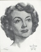 A 1962 sketch by Volpe commemorating Joan in 'Mildred Pierce.'