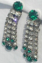 Crystal earrings being auctioned off online in Feb. '05 starting at $250.