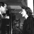 With Henry Fonda on the set of 'Daisy Kenyon.'