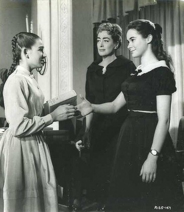 1957. 'Esther Costello.' With Heather Sears (right).