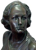 Bronze statue by Gilbert Riswold, 1931. (Thanks to Rick.)