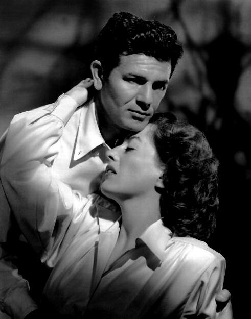 1946. 'Humoresque' publicity. With John Garfield.