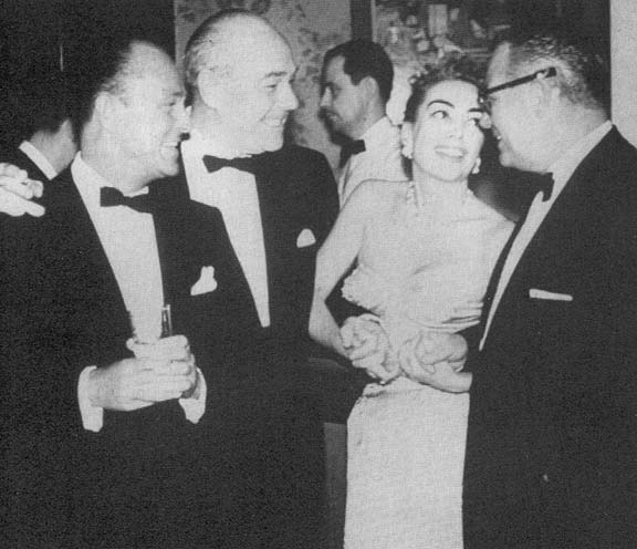1957. Jimmy Shields, William Haines, Joan, Al Steele.