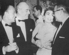 From left: Shields,  Haines, Joan, Al Steele. 1957.