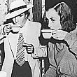 1937. On the set of 'The Bride Wore Red' with director Dorothy Arzner.