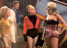 From left: Judy Geeson, Ty Hardin, Joan, Diana Dors