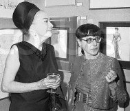 Joan with Head in January 1969 at a one-woman gallery show for Head in NYC.