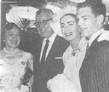 From left: Hayes, Al Steele, Joan, Hayes son James MacArthur. Photo from a 1957 Australian Photoplay magazine.