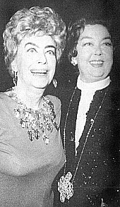 9/23/74: Joan at the Rainbow Room with Rosalind Russell. Joan's last public appearance.