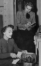 Betty Barker with Joan in the early '50s.