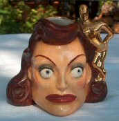 Oscar head-vase from 1945. This didn't stay on the market long since unapproved products using the Oscar likeness were illegal.
