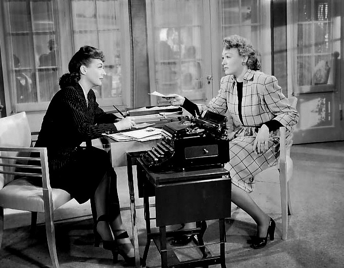 1945. 'Mildred Pierce.' With Eve Arden.