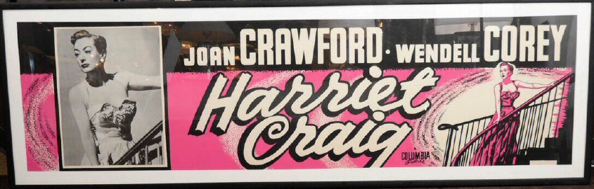 A US 'Harriet Craig' lobby poster. 7 ft long by 27 inches high.