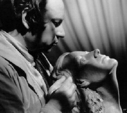 Artist  Salamunich with his Joan sculpture, 1941.