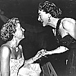 1952. Joan with Barbara Stanwyck at the Masquers Revel.