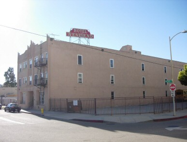 West End Hotel today. Photo courtesy of dearoldhollywood.blogspot.com.