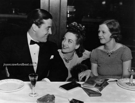 At the Trocadero, with Ray Milland and Mrs. Irving Berlin.