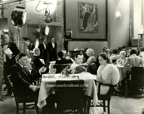With director Clarence Brown and Robert Montgomery.