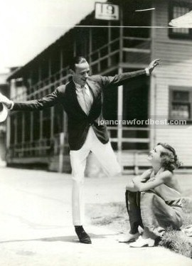 With Fred Astaire on the 'Dancing Lady' set.