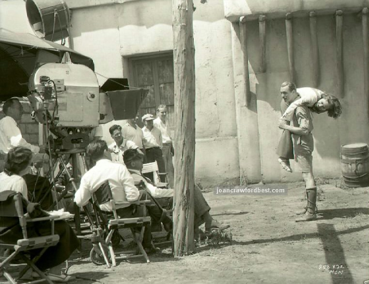 June 10, 1935. On the set of 'I Live My Life.'