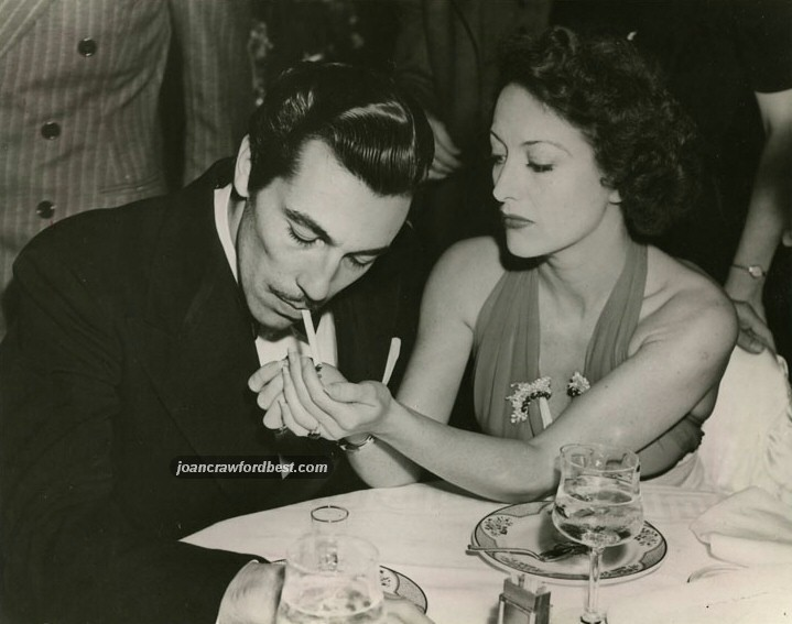 Circa 1939, with Cesar Romero.