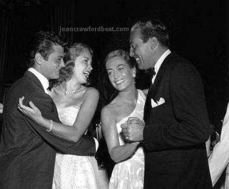 1951. At Mocambo with Tony Curtis, Janet Leigh, and Cesar Romero.