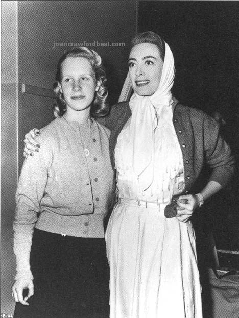 1952. With Christina on the 'Sudden Fear' set.