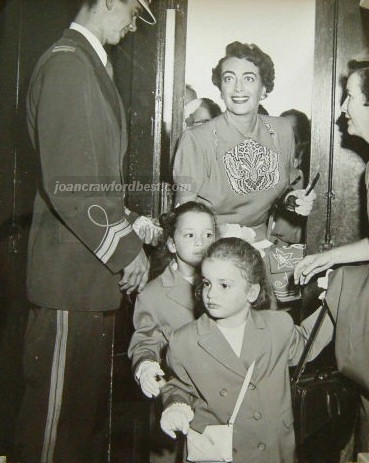 1952. At the Los Angeles Ice Capades with the twins.