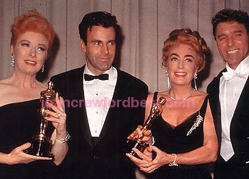 April 9, 1962. At the Oscars with Greer Garson, Maximilian Schell, and Burt Lancaster.