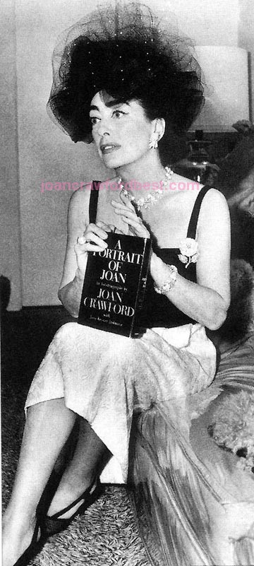 1962. Promoting her autobiography, 'A Portrait of Joan.'