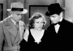 With Earle Foxe, left, and Gable.