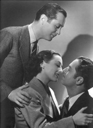 With Robert Montgomery (left) and William Powell.