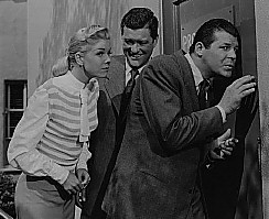From left: Day, Dennis Morgan, Jack Carson in 'It's a Great Feeling.'