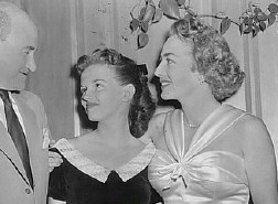 1950. Joan with goddaughter Joan Evans and unknown.