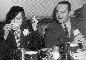 Joan and Haines at the Brown Derby, 1935.